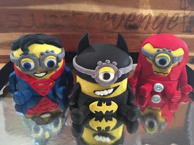 Superhero Minion Cakes by Sweet Revenge