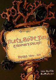 Black Rose Bar Sign