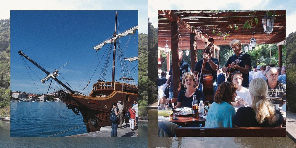 左圖:「賊船」 右圖:「於島上的農家盛宴」