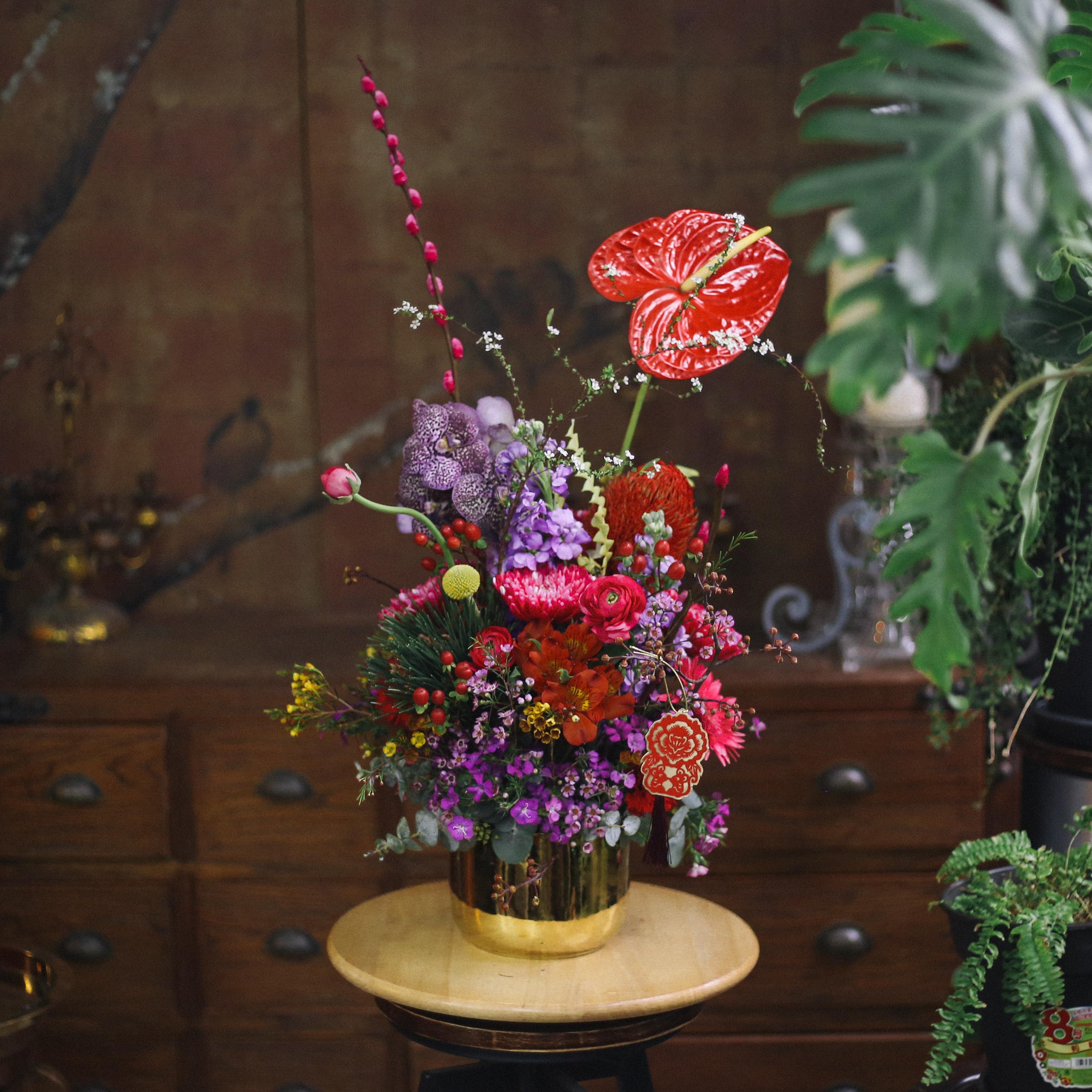 《歲次庚子 春 新年盆花》
