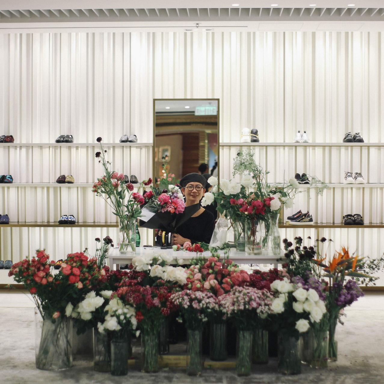 """Giuseppe Zanotti - Flower Store Popup"""