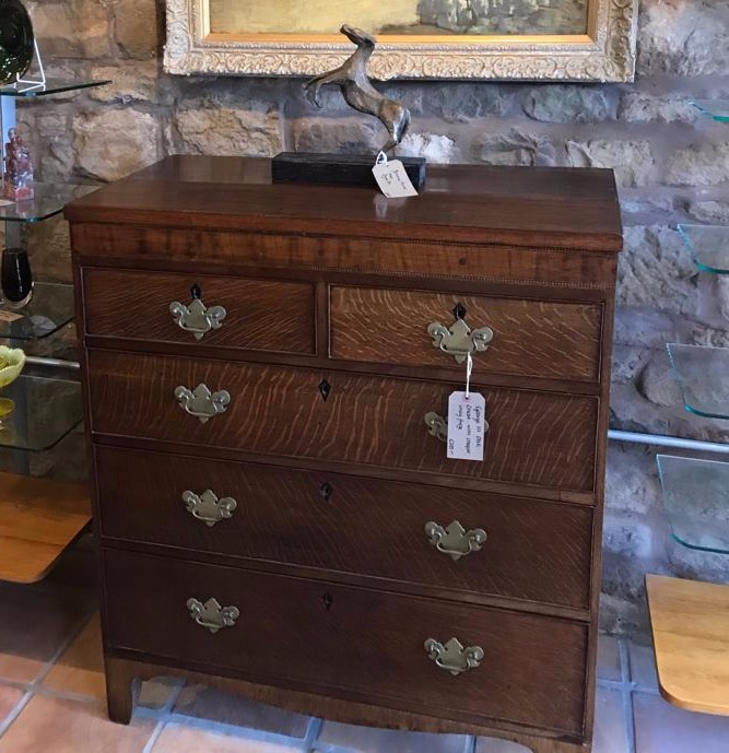 George III Oak Chest Of Drawers