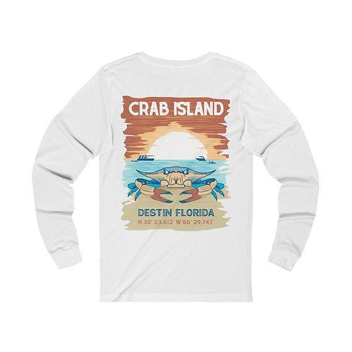 Crab Island Unisex Jersey Long Sleeve Tee