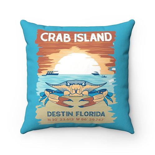 Crab Island Spun Polyester Square Pillow