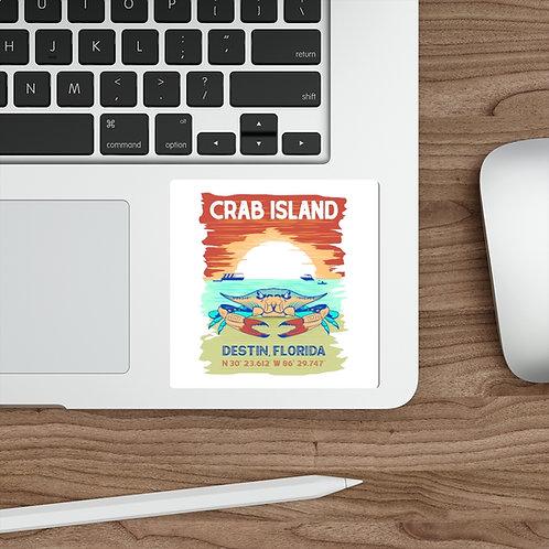 Crab Island Die-Cut Stickers