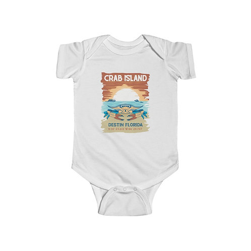 Crab Island Infant Fine Jersey Bodysuit