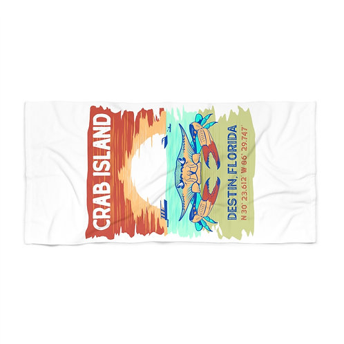 Crab Island Beach Towel