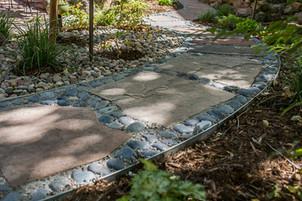 Stone path walkway