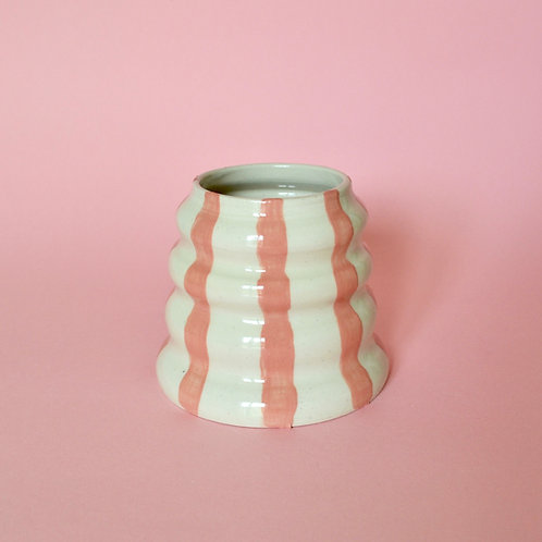 Wiggle Pot - Pink Stripe