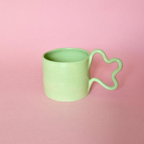 Wiggle Handle Mug - Lime