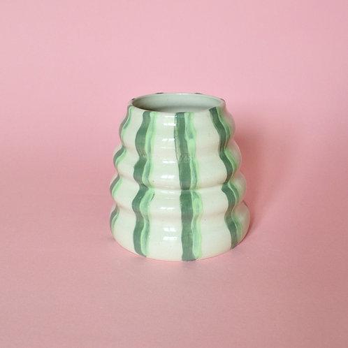 Wiggle Pot - Green Stripe