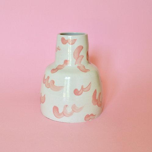 Bottle Neck Vase - Pink Squiggle