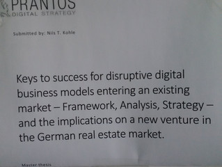 Master thesis - Digital disruption in existing markets.
