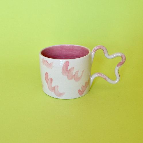 Wiggle Handle Mug - Pink Squiggle