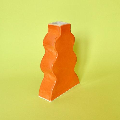 Wavy Vase - Orange