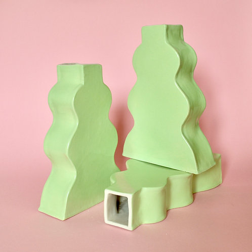 Wavy Vase - Lime