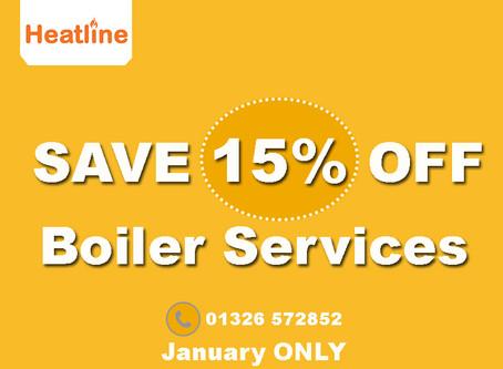 15% off your Heatline Boiler Service