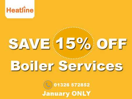 15% off your Heatline Boiler Service
