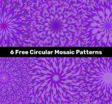 Purple Circular Mosaic Patterns