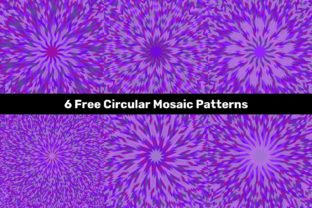 Purple Circular Mosaic Patterns