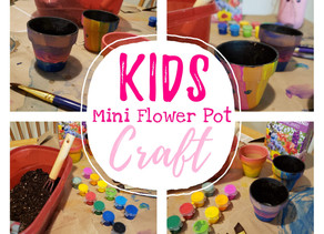 DIY KIDS MINI FLOWER POT CRAFT!!