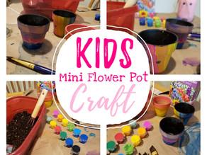 DIY KIDS MINI FLOWER POT CRAFT!!