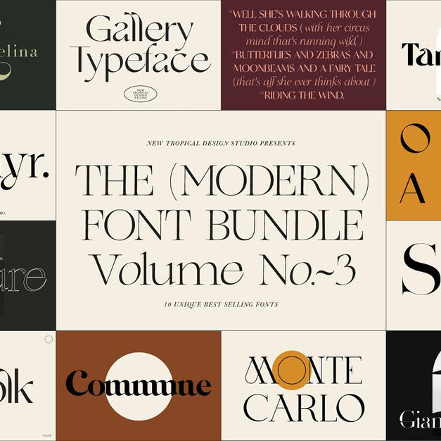 The (Modern) Font Bundle - Vol. 3