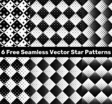 Seamless Vector Star Patterns