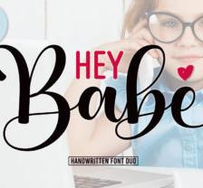 Hey Babe - Font