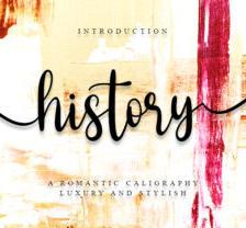 History - Font