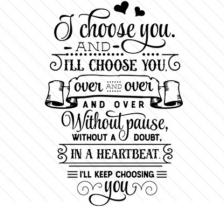 I Choose You...