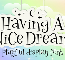 Having A Nice Dream - Font
