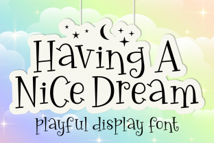 Having A Nice Dream - Font