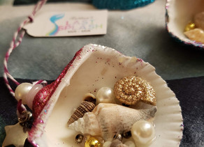 EASY!! HANDMADE SHELL PARTY FAVOR DECOR CRAFT!!