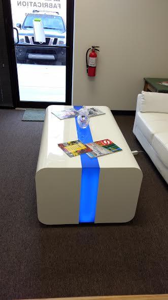 Custom Lit coffee table