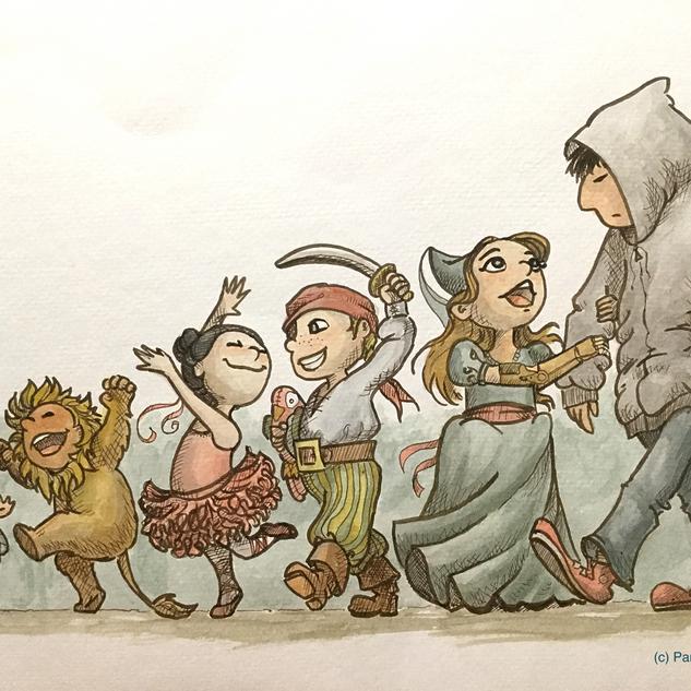 Halloween Parade (Illustration)