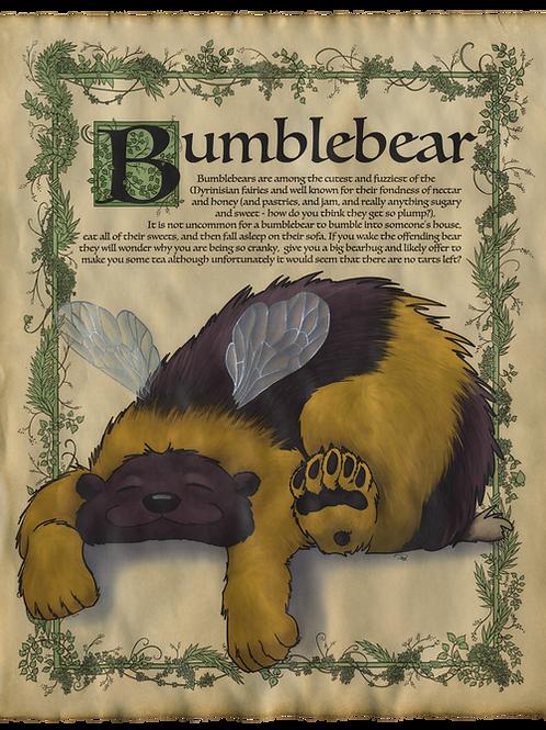 Bumblebear Art Print