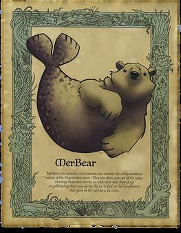 Merbear Art Print