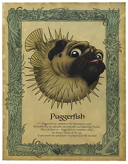 Puggerfish Art Print