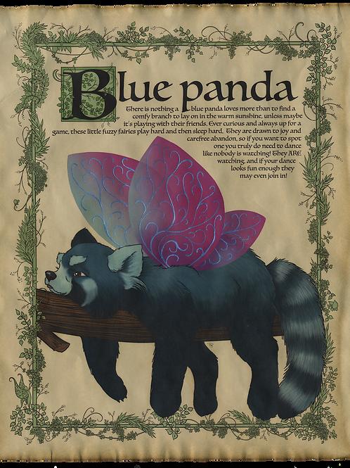 Blue Panda Art Print