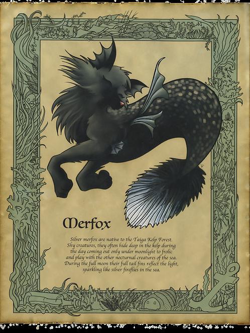 Merfox Art Print