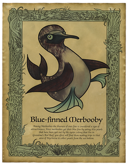 Blue-finned Merbooby Art Print