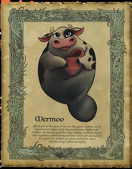 Mermoo Art Print
