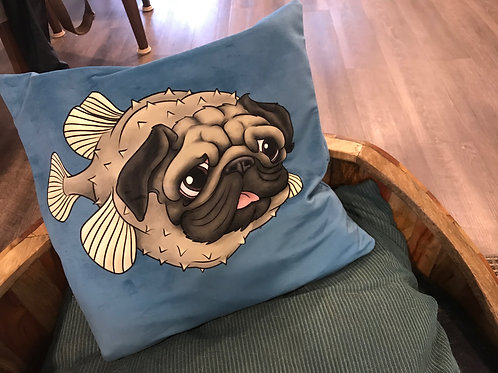 Puggerfish Cushion Cover