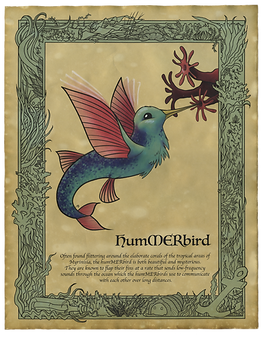 Hummerbird Art Print