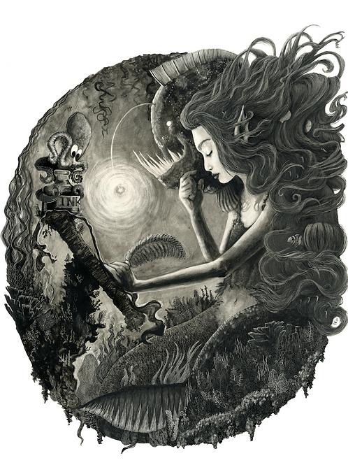 The Mermaid Fine Art Print