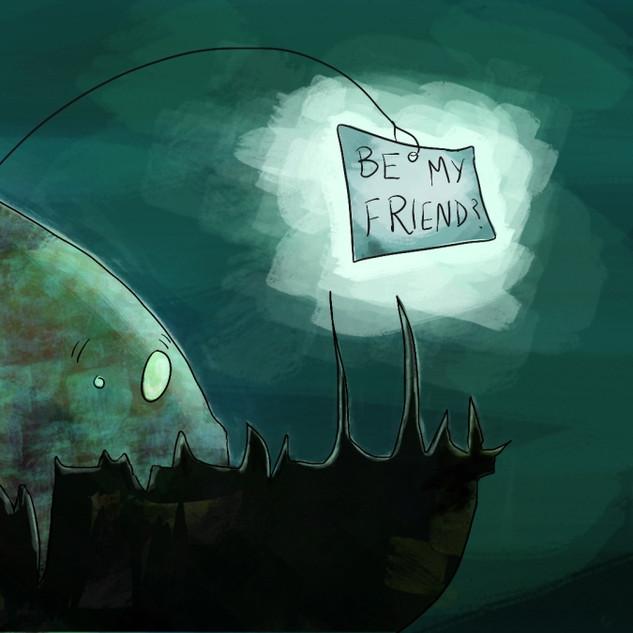 Misunderstood Anglerfish (Illustration)