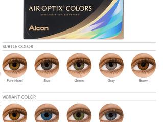 Силикон-гидрогелевые цветные линзы