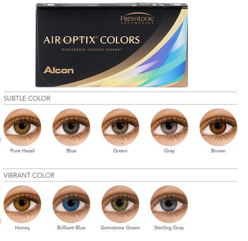 air optix colors. цветные линзы. сменить цвет глаз