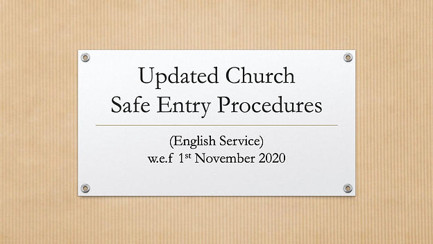Updated Church Safe Entry (November 2020